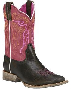 Ariat Girls' Mesteno Boot Cowgirl Boots - Square Toe