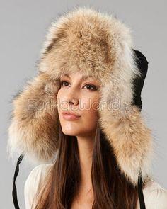 8ec620d1c91 Women s Coyote   Suede Russian Officer Hat. Mens Beanie HatsMen s ...