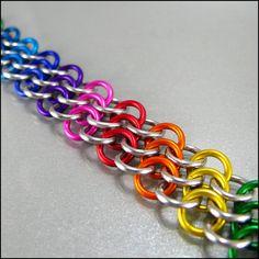 Rainbow Bias Chainmaille Bracelet by Janabolic, via Flickr