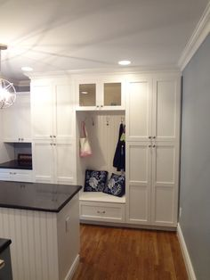 mud rooms in the kitchen | Mud Room Coat & Boot Storage