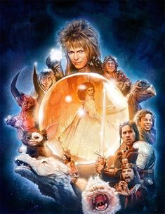 Get some great retro movie poster painting advice with this walkthrough. Discover the painting processes that go into illustrating retro film posters with this walkthrough. Jim Henson, Fantasy Movies, Fantasy Art, Labyrinth Film, Cover Art, The Neverending Story, Goblin King, The Dark Crystal, Glam Rock