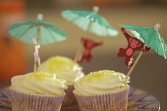 Cupcakes de Ron con limón