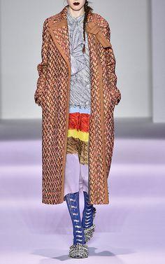 Panno Twill Tweed Coat by MARCO DE VINCENZO for Preorder on Moda Operandi