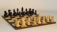 American Emperor Dark Rosewood Chess Set