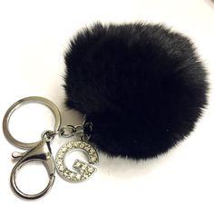 Fur Pom Pom Keychains Fur Keychain Fur Pom Pom by wrapsbyrenzel