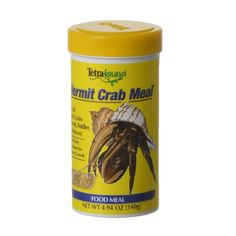 Tetrafauna Hermit Crab Meal provides variety for your Hermit Crab pet. This powdered high protein food is scientifically formulated for optimal health. This diet is rich in fish meal and coconut and is fortified with vitamins and calcium for proper exoske