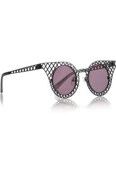 d355649bdc House of Holland - Cagefighters round-frame latticed metal sunglasses