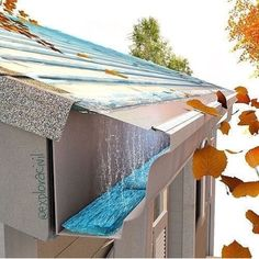 EasyOn Gutterguard Version – Stainless Steel Micro-Mesh Gutter Guard Never Clean Your Gutters Out Again Keeps Leaves And Pine Needles Out Of Gutter UL Certified For Rainwater Harvesting Future House, My House, Architecture Details, Home Projects, House Plans, New Homes, Backyard, House Design, House Ideas