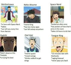 I'm not completely any of them... I'm kinda a mix of Dadchi and Space Nerd lol XD