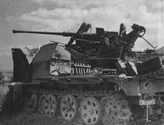 German self-propelled 37mm (3.7cm FlaK36 L/98) anti-aircraft gun Sd.Kfz 7/2 in Italy. 06/20/1944