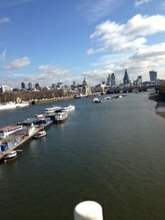The River Thames... A Beautiful Day.