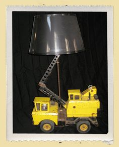 if i ever have a boy! :) Lamp made from a Tonka truck