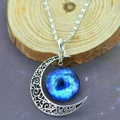 Moon & Galaxy Necklace