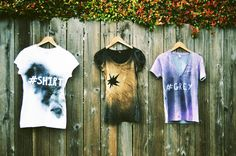 Paint T-Shirt: DIY Tutorial and 45 cool examples - Best Trend ideas Graffiti Furniture, Tinta Spray, Diy Spray Paint, Spray Painting, Paint Shirts, Diy Clothes Videos, Painted Clothes, T Shirt Diy, Looks Cool