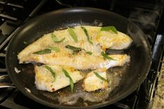 Walleye with Tarragon Butter Sauce — Dan330