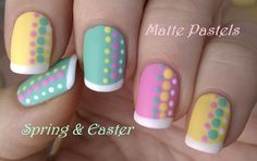 Matte #pastel #nailart for #Spring & #Easter / For more easy ideas pls visit: https://www.youtube.com/user/LifeWorldWomen