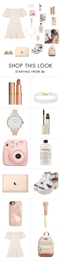 """Dress"" by kate-563 on Polyvore featuring Charlotte Tilbury, Vanessa Mooney, Olivia Burton, By Terry, Fujifilm, philosophy, Rebecca Minkoff, H&M, Valentino and Rip Curl"