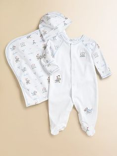 Kissy Kissy - Infant's Noble Knight Footie & Hat Set - Saks.com