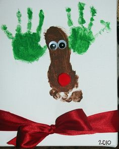Very Cute Christmas Activity for the kids to do for their grandparents presents!