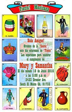 Party decorations mexican fiesta party and mexican fiesta decorations - Traditional La Loteria Mexicana El Borracho Birthday