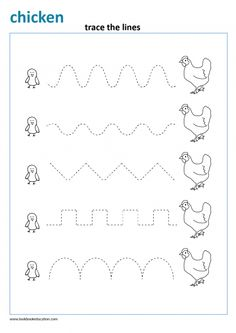 Farm writing pattern for preschool and kindergarten. Trace the lines. Line Tracing Worksheets, Nursery Worksheets, Nursery Activities, Animal Worksheets, Printable Preschool Worksheets, Free Kindergarten Worksheets, Preschool Kindergarten, Preschool Writing, Free Preschool