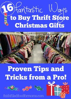 16 Fantastic Ways to Buy Thrift Store Christmas Gifts! You can still give beautiful gifts even if you don't have a lot of money! Some super fun ideas you will love!
