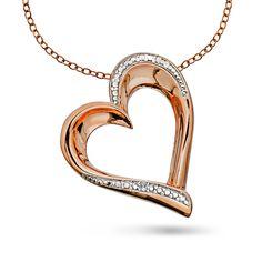 Smykke i sølv og rosèforgylt sølv