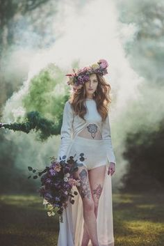 I think this is a weak shot, but I like the idea of portraits usng smoke bombs creatively
