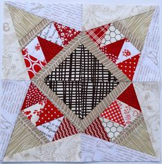 Jewel Puzzle Paper Pieced Pattern @ Sew Mama Sew by Heather Seminelli from Quilts Actually