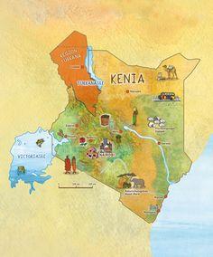 Bilderserie Kenia – 02 – Landkarte Kenia