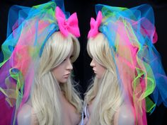 80s Madonna Inspired Neon Veil Bachelorette Party by tutufactory                                                                                                                                                      More