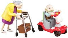 "Granny/Granddad Duel Pack by Miles Kimball by Miles Kimball. $14.99. Wind 'em up and watch these reckless grannies race their walkers ... see the ""pull-back-n-go"" granddads speed by in their scooters! Delightful, novelty toys are hilarious gifts for retir"