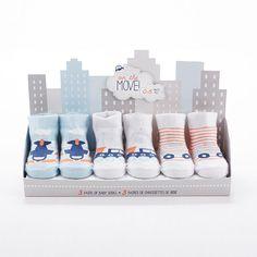 """On The Move"" Three Pairs of Socks Gift Set"