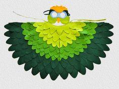 Traje verde loro Perico Halloween disfraces para por BHBKidstyle