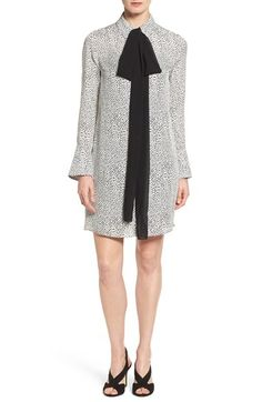 Free shipping and returns on MICHAEL Michael Kors 'Graphic Scale' Bow Shirtdress…