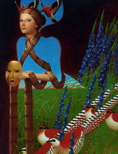 Kai Fine Art is an art website, shows painting and illustration works all over the world. Image Nature Fleurs, Images Vintage, Magic Realism, Medieval Fashion, Grid Design, Design Art, Russian Art, Art Plastique, Surreal Art