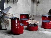 Nice Fass Sitzgruppe aus l Neu Fass lfass Barrel