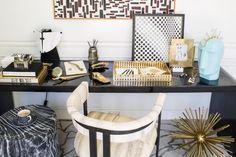 An artful desk fosters creativity. Xk #kellywearstler #interior #desk