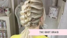 By using the simple technique of knotting you can create this gorgeous style that stays in all day and is easy to take out again :)