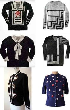 """Abre su primera tienda en 1927, llamada """"Pour le Sport"""" (Para el Deporte) donde expone suéters tejidos combinados en blanco y negro, con un gran lazo blanco y otros modelos. Meses más tarde, Elsa Schiaparelli vuelve a arremeter con sus diseños en sweaters, pero esta vez con motivos modernistas."""