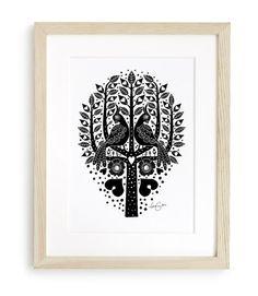Lisa Grue - Birds In a Tree og andre illustrationer
