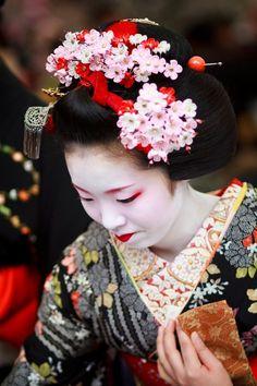 Geisha hair ornaments kanzashi