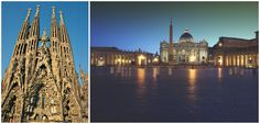 Barcelona's Sagrada Familia and Rome's Vatican Museums are two important western Mediterranean religious sites.