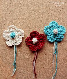 Free Crochet Criss-Cross Bobble Flower Pattern via Rescued Paw Designs