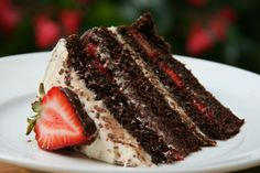 Chocolate Strawberry Truffle Cake and the Speed of Life | Sweet ... OH MY GOODNESSSS ! !!