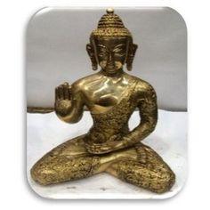 """Die Skulptur """"Sitting Buddha Story"""" von ESPOSA ist ein echter Blickfang für Ihre vier Wände. Genießen Sie die besondere Exotik Asiens!"""