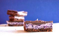 Blueberry Cream Bars, made with fresh blueberries #vegan and #Paleo