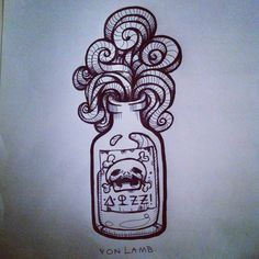 bottle tattoo - Buscar con Google                                                                                                                                                                                 More