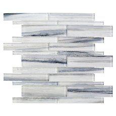 Misty Ford Linear Glass Mosaic - X - 100706381 Glass Tile Backsplash, Ceramic Wall Tiles, Kitchen Backsplash, Adhesive Backsplash, Kitchen Vent, Marble Mosaic, Glass Mosaic Tiles, Tile Mosaics, 3d Tiles