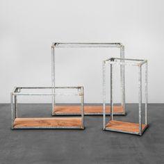 Galvanized Metal and Wood Wall Shelf (Set of 3) Hearth